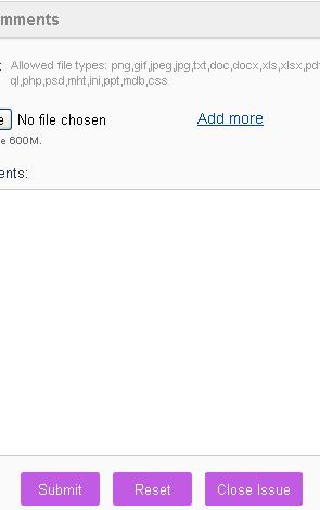 screenshot of close issue