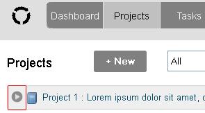 screenshot of hiding project contents