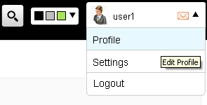 screenshot of users profile